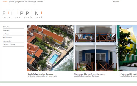Website Filippini Interieurarchitect