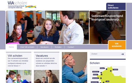 Website ViA-scholen